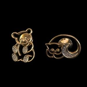 Avon Vintage Bear & Cat Pin Brooches